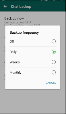 Whats App Daily Backup