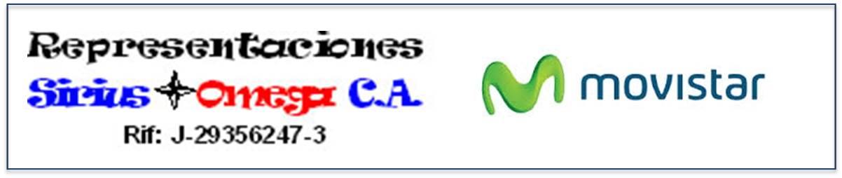 Representaciones Sirius Omega Agente Autorizado Movistar  en Mérida Venezuela