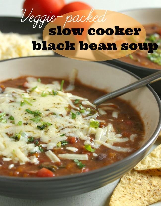 Veggie-Packed Slow Cooker Black Bean Soup