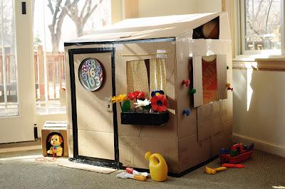 cardboard playhouse diy