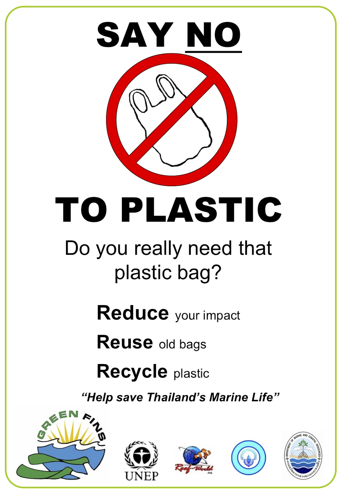 no to plastic essay The notable thing about plastic is they are amorphous solids and scientists are saying that it will take down 500 years to 1000 years for a plastic to break down in the environment.