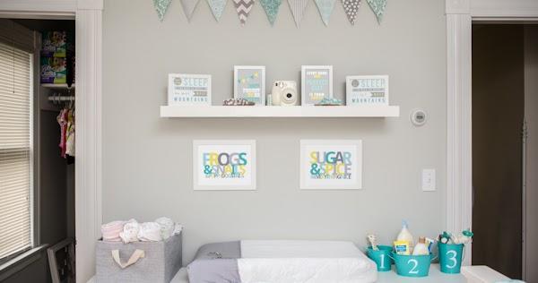 Decor me un dormitorio compartido en gris y turquesa for Decoracion habitacion nina gris y rosa