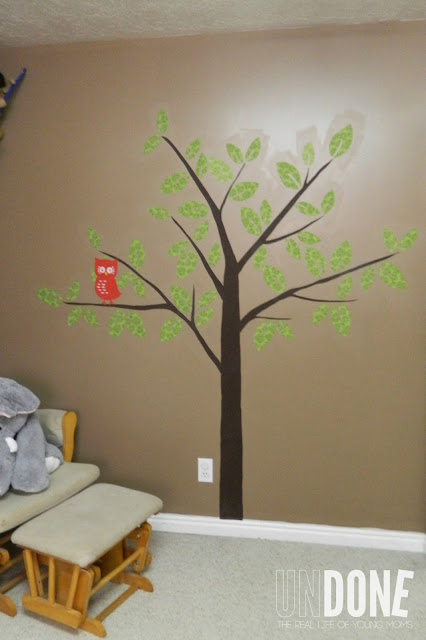 {The UNDONE Blog} Fabric tree design using starch! Perfect for renters!