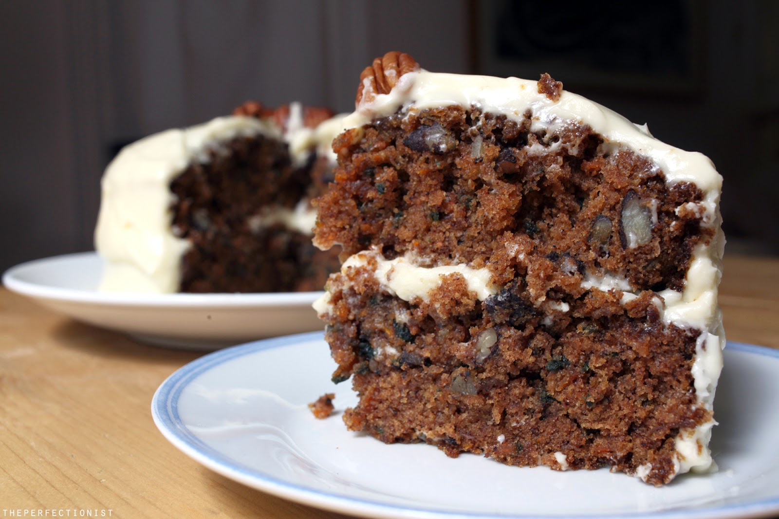 The Perfectionist: Carrot and Pecan Cake with Cream Cheese Frosting