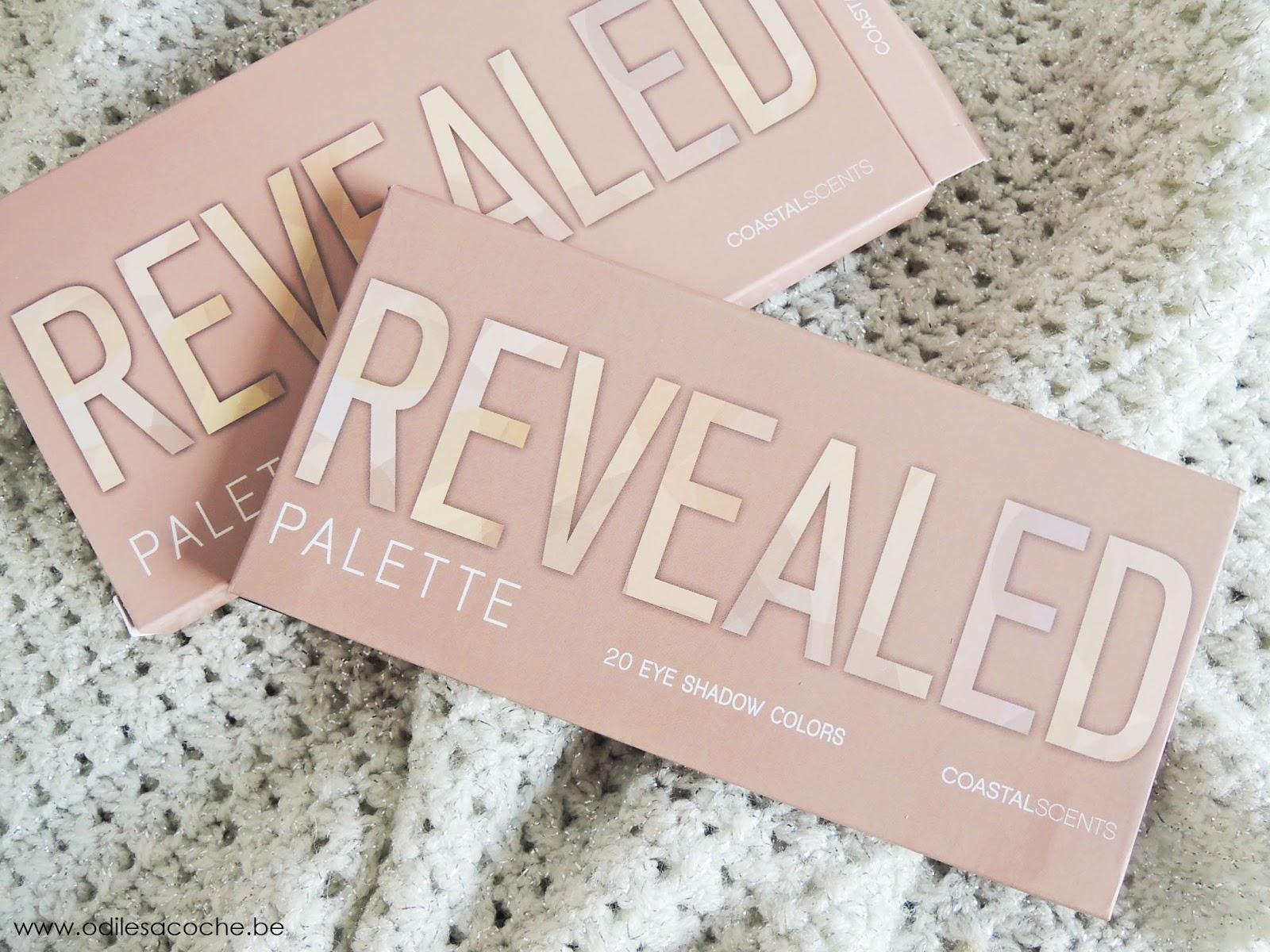 Packaging de Revealed palette