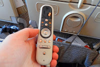 Etihad E-BOX In-flight Entertainment System remote control