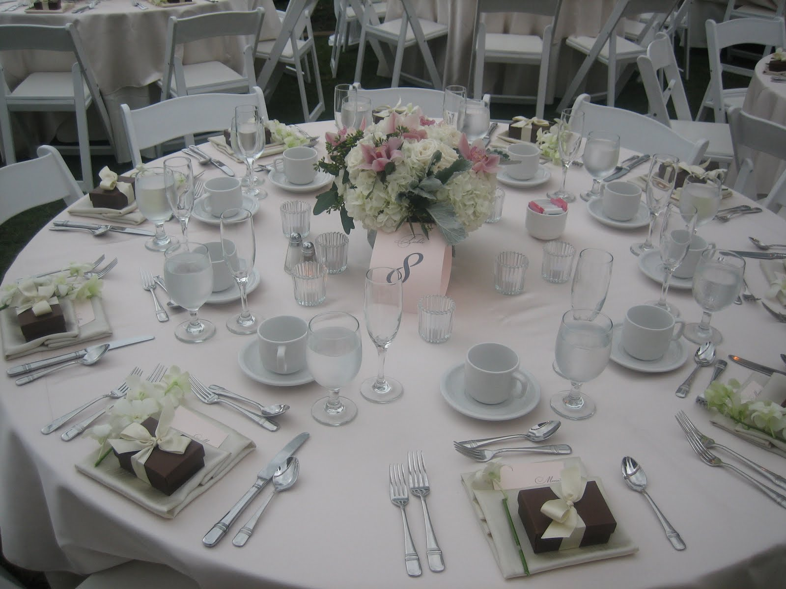 Wedding Table Setting : Wedding Reception Table Settings