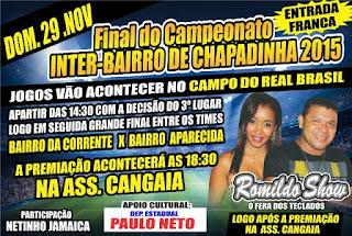 Dia 29 tem Romildo Show em Chapadinha.