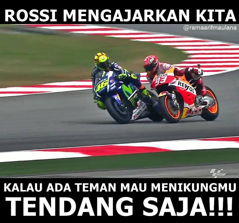 Meme Rossi Tendang Marquez