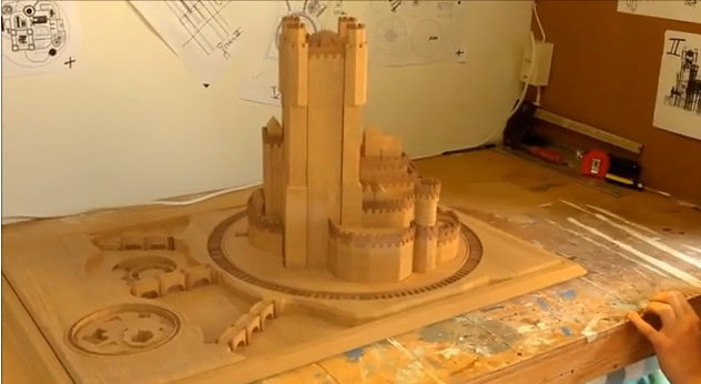 castillo extensible real como los de la intro de juego de tronos - Juego de Tronos