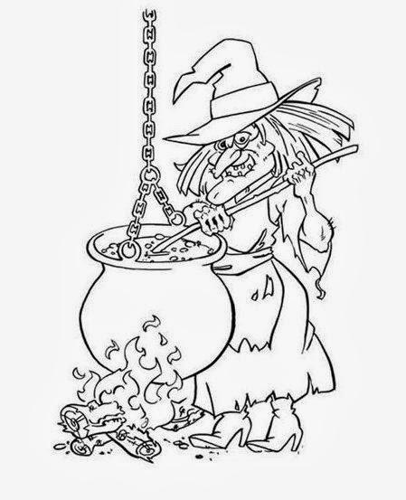 Brujas de Halloween para Pintar, parte 4