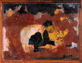artiste peintre montpellier - Homme acroupis