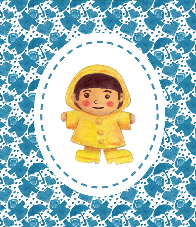 The Rain Girl Illustration Printed on Merchandise Illustration by Haidi Shabrina