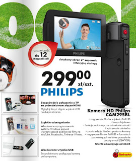 Kamera HD Philips CAM295BL Biedronka ulotka