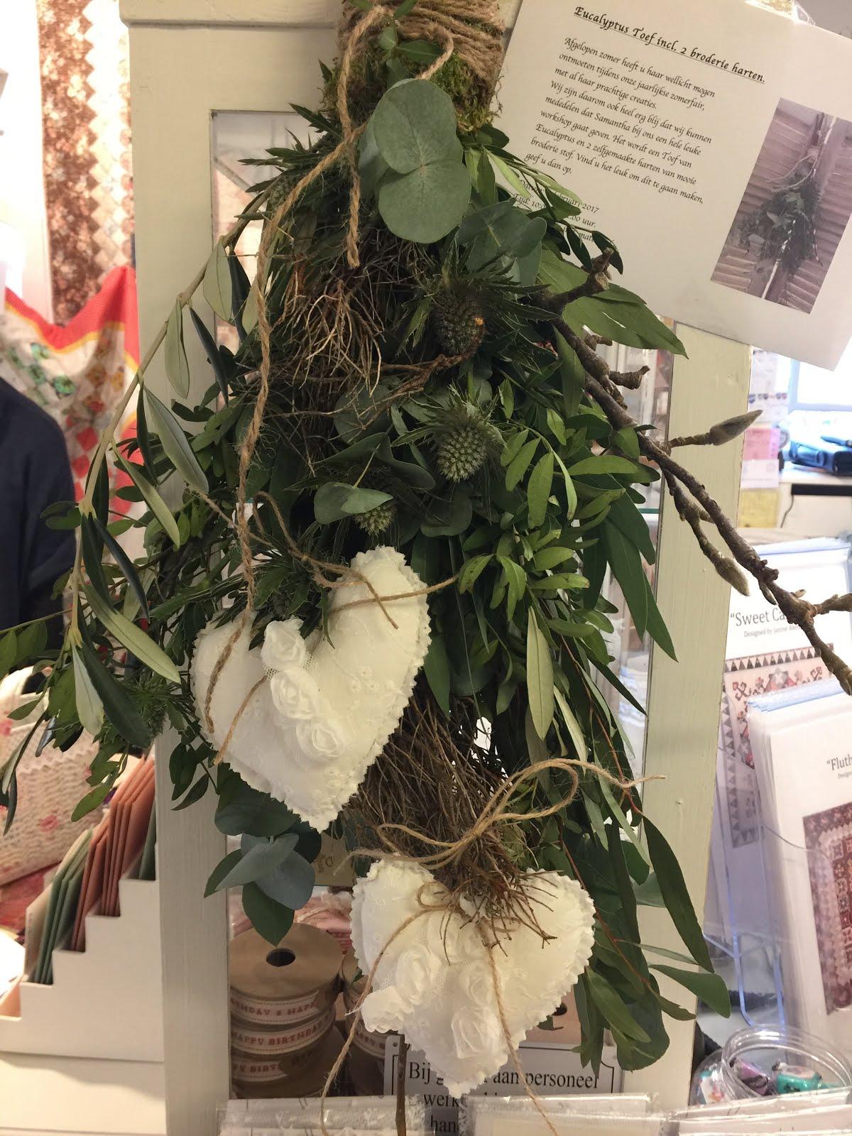 Eucalytus Toef incl. broderie harten