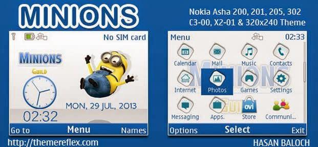 download tema nokia asha 205