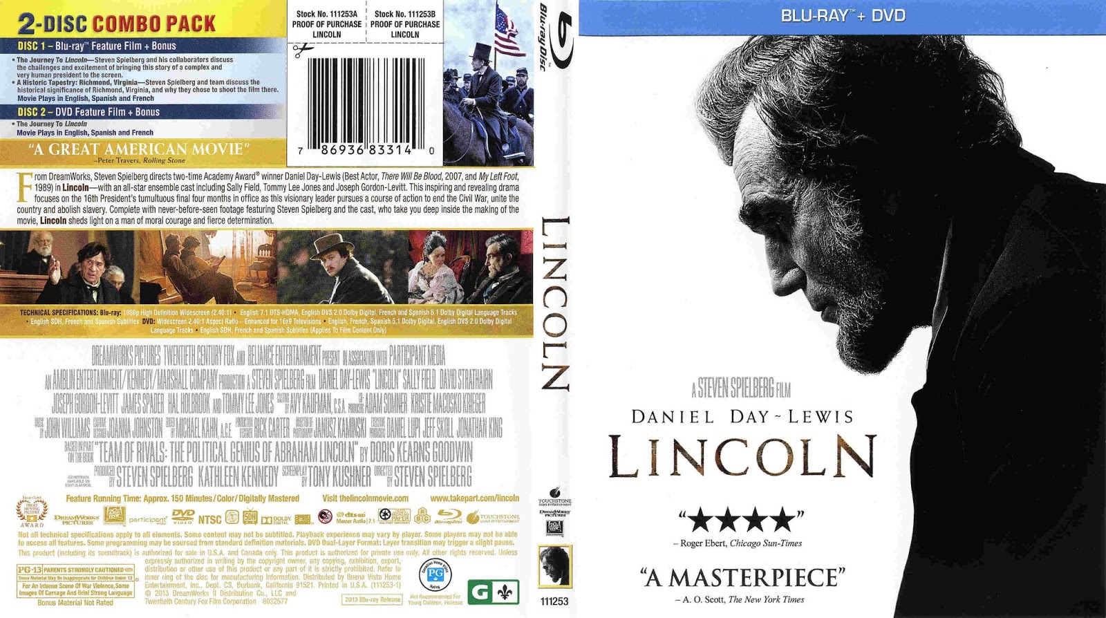 search results for �cover blu ray movie lincoln 2012