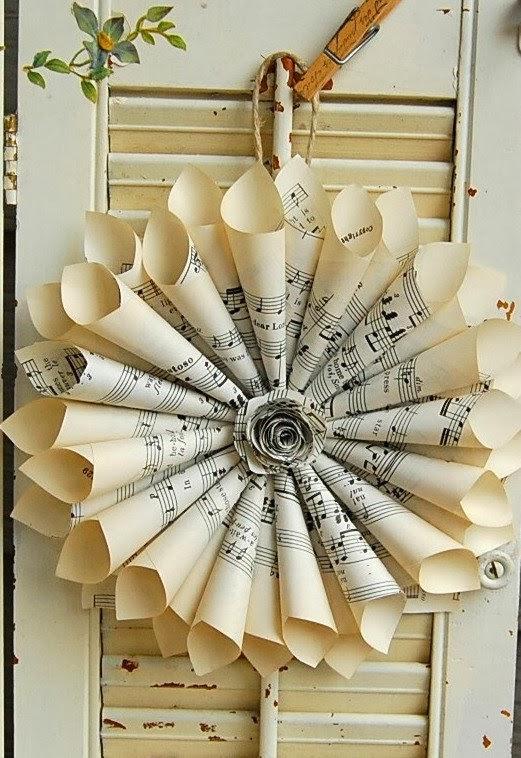 10 pomysłów i inspiracji na świateczne wianki wianek z papieru