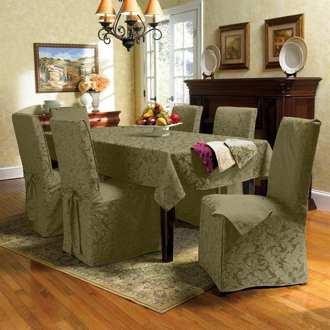 how to make dining room chair covers