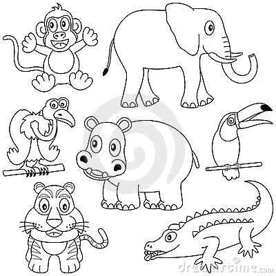 Coloriage animaux de la jungle
