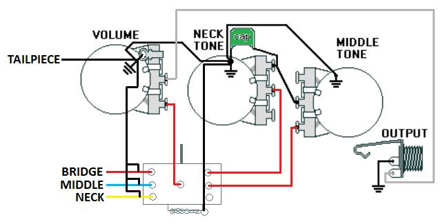 Washburn Mercury Original Wiring Diagram