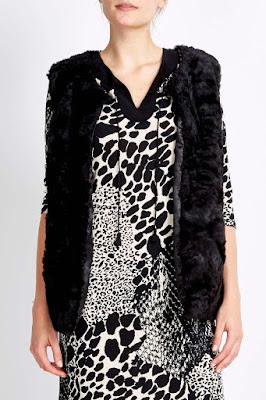 Wallis Black Faux Fur Gilet