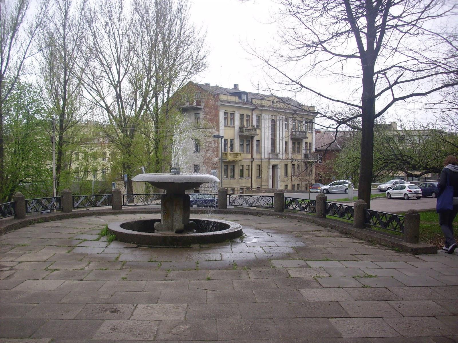 Fuente y parque de Kaunas