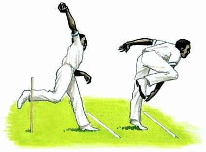 Cricket bowler logo
