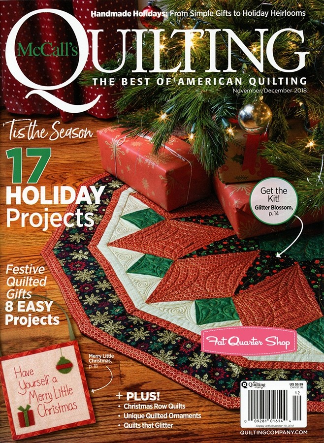 Only $4.99! 2018 Nov/Dec McCall's Quilting magazine (click!)