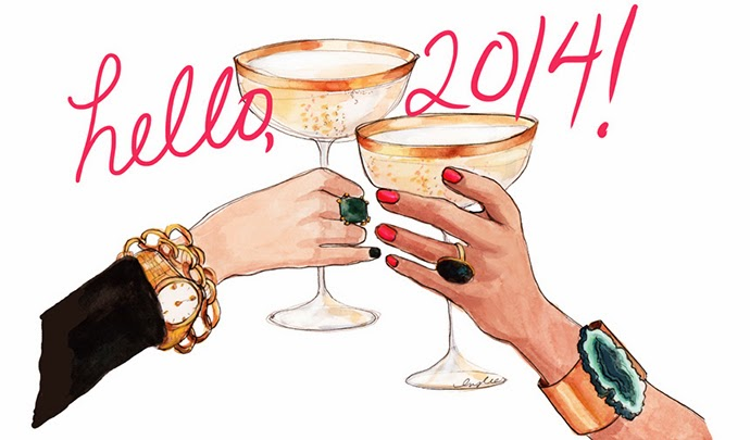 Hello 2014 illustration