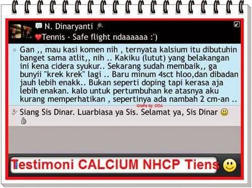 NHCP untuk Tinggi Badan & Kesehatan Tulang Atlit (Kesaksian Konsumen Peninggi Badan)
