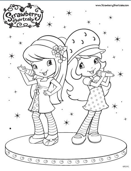 The Berry Biggest Strawberry Shortcake Fan: Cherry Jam Colouring Pages!