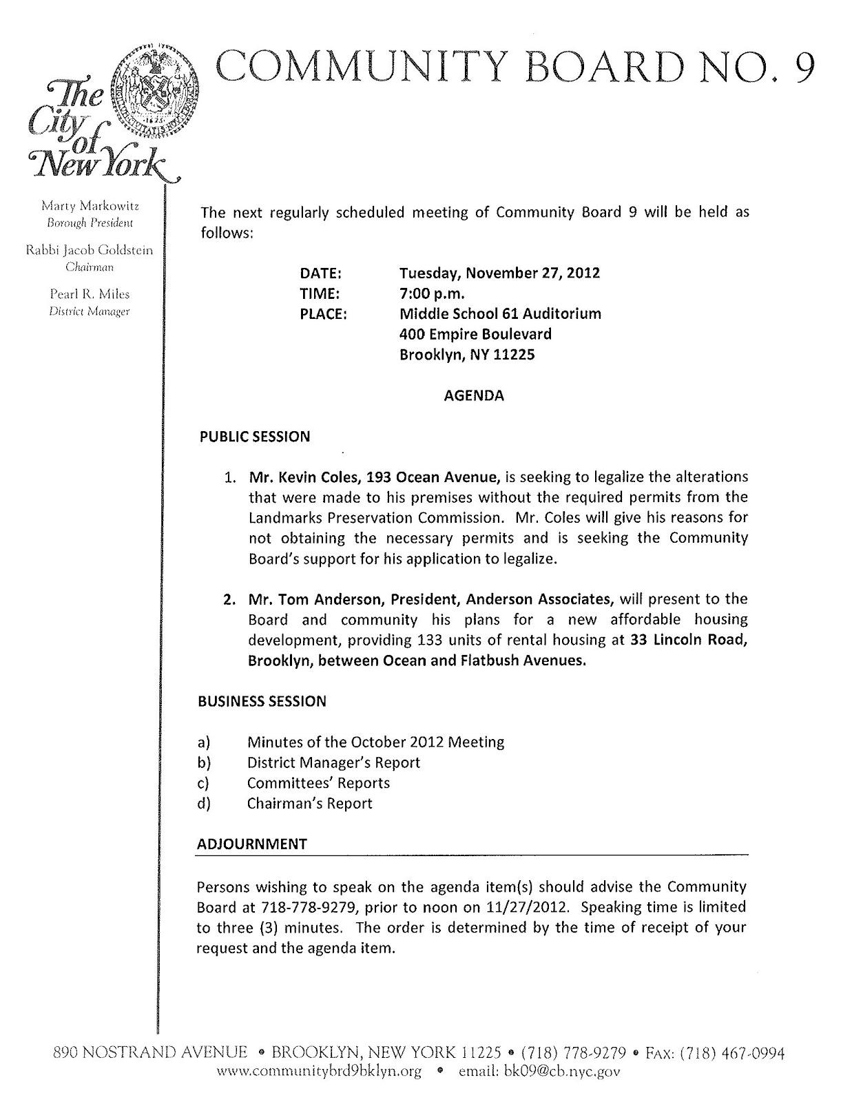 business meeting agenda example