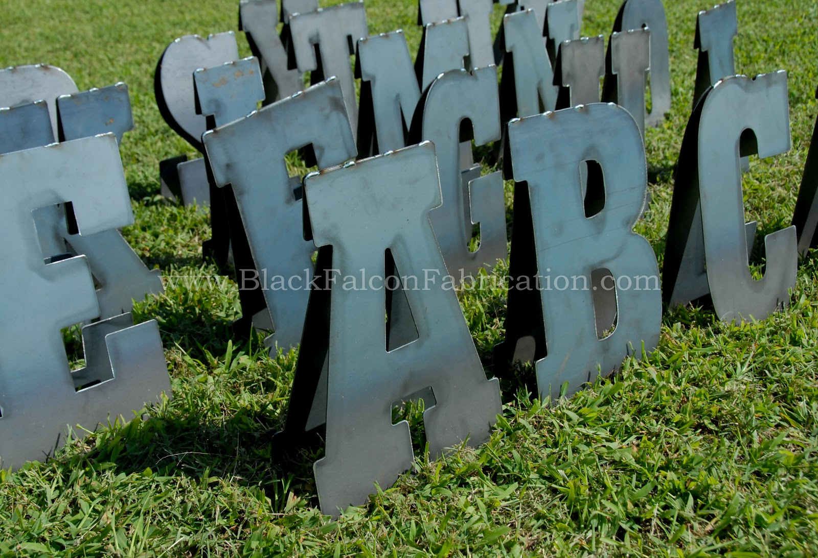 Black Falcon Fabrication: Free Standing Letters