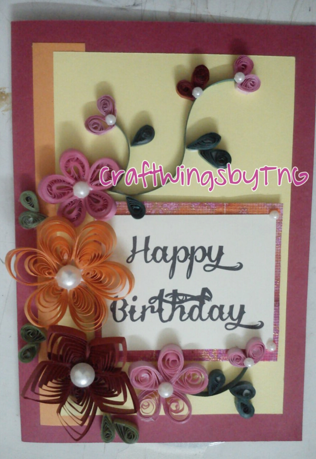Craftwings Quilling Card
