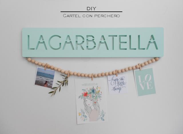 DIY de La Garbatella con el letrero de madera de LaLetrería.es