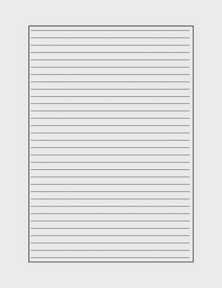 Plantilla Para Escribir Recto – I Started