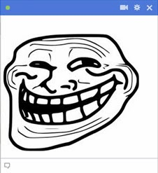 emoticon facebook trollface