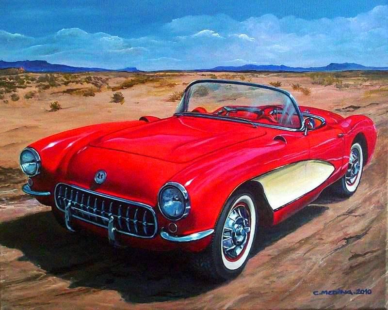 Pintura Autos Clasicos Cuadros de Autos Pinturas al