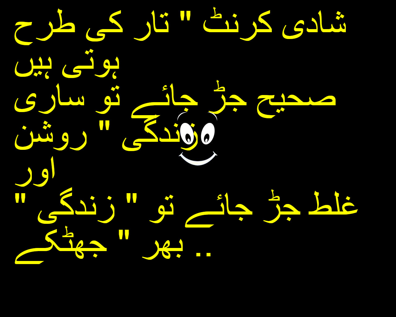 Funny wedding anniversary wishes in urdu