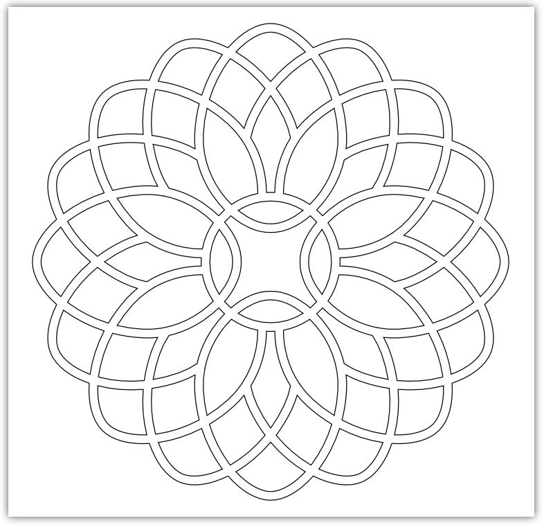 mosaic flower free hand embroidery pattern