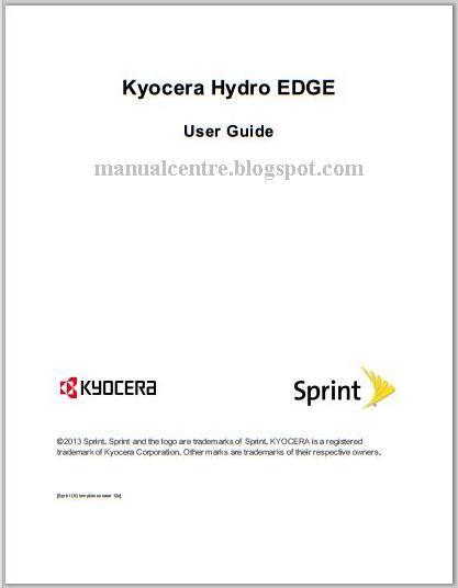 Kyocera Hydro Edge Manual Cover
