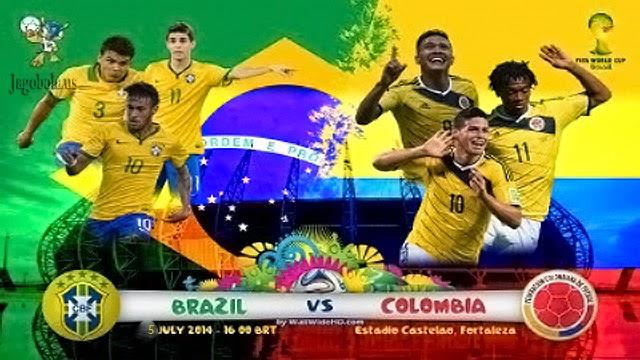 Prediksi skor Brazil vs Kolombia 5 Juli Piala Dunia 2014 Perempat Final