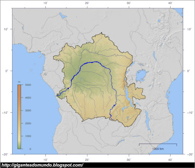 mapa Rio Congo