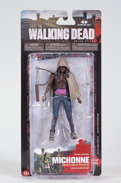 The Walking Dead Television Series 3 Action Figures by McFarlane Toys - Michonne in Blister Card Packaging