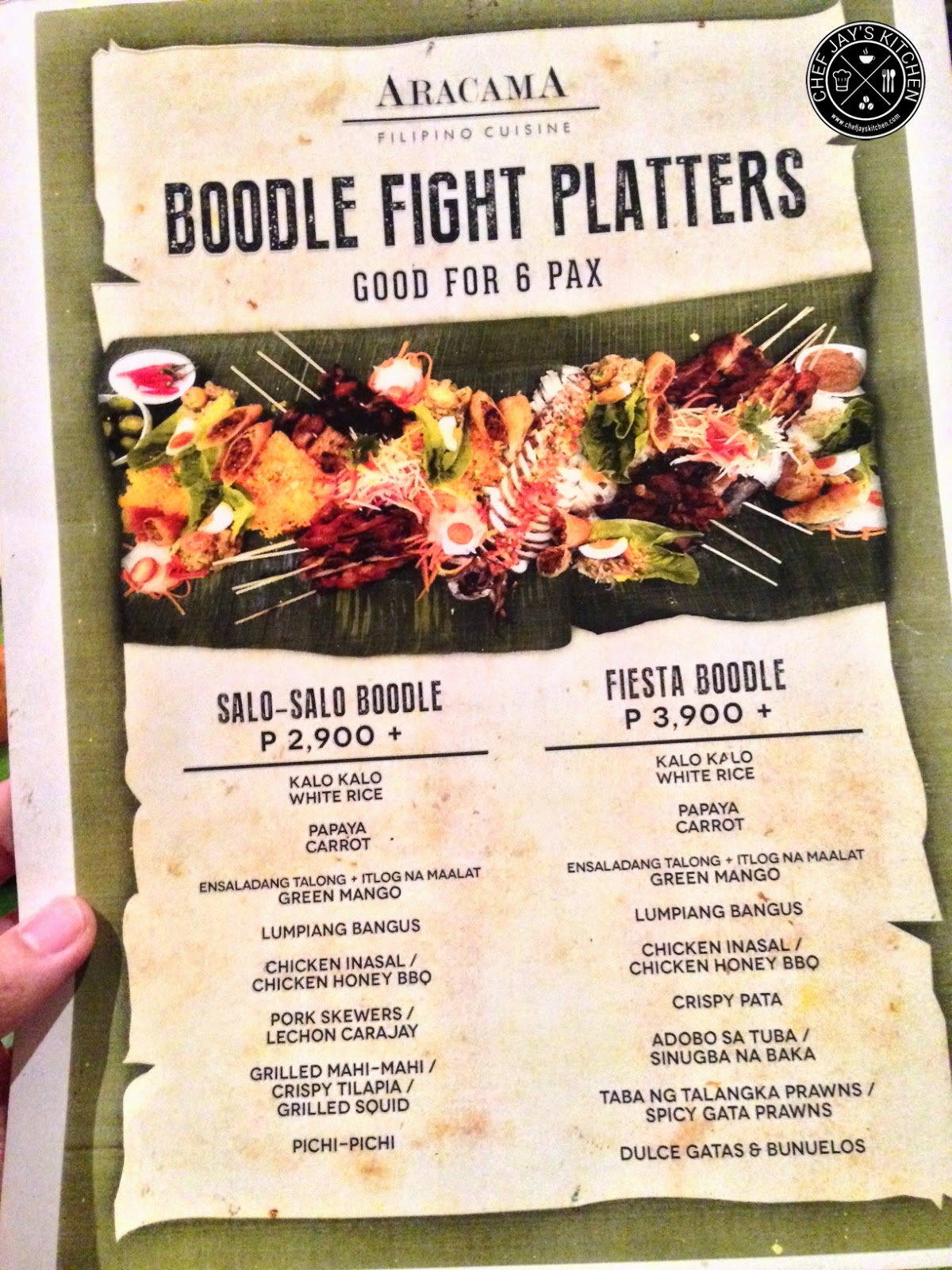Aracama Boodle Fight Menu