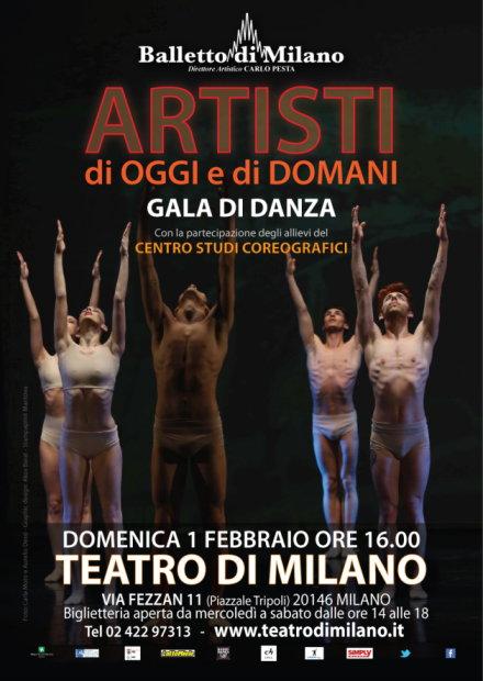 Domenica 1 febbraio: Gala della Danza al Teatro di Milano coi danzatori del Balletto di Milano e gli allievi del Centro Studi Coreografici