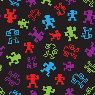 Pixel monkey seamless pattern