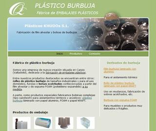 página web de fábrica plástico burbuja