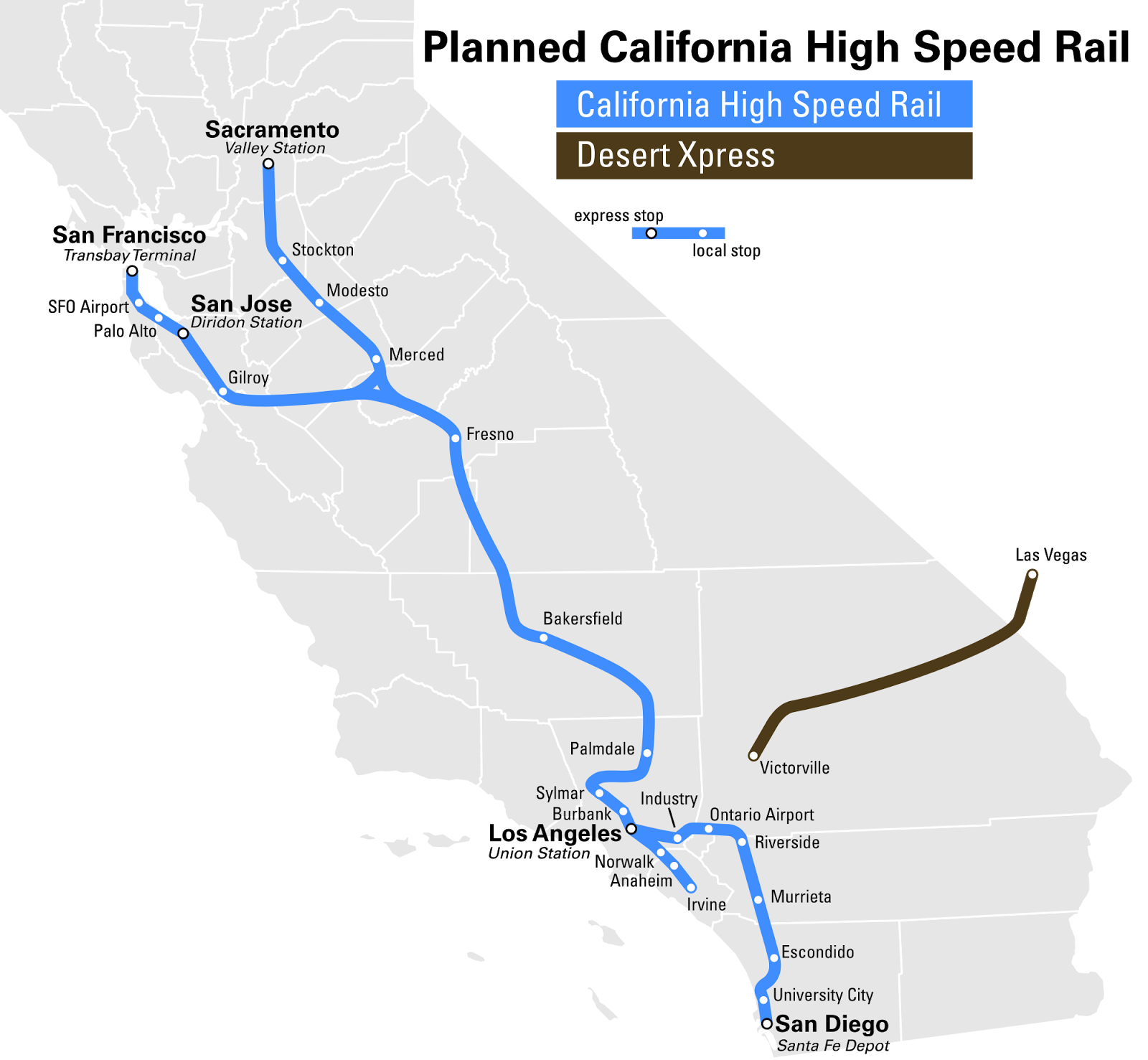 Chinese Firm Seeks Highspeed Train Connecting LA To Las Vegas Las - Los angeles route map